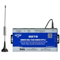 Беспроводной Modbus шлюз 3g 4 г LTE Сотовая связь RTU мониторинга Системы удаленного коммутатора по SMS Бесплатный звонок с PT100 8DI 6 AI S272
