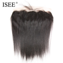 Isee 13x4 lace frontal closure with baby hair straight hair extension remy human hair hand tied.jpg 250x250