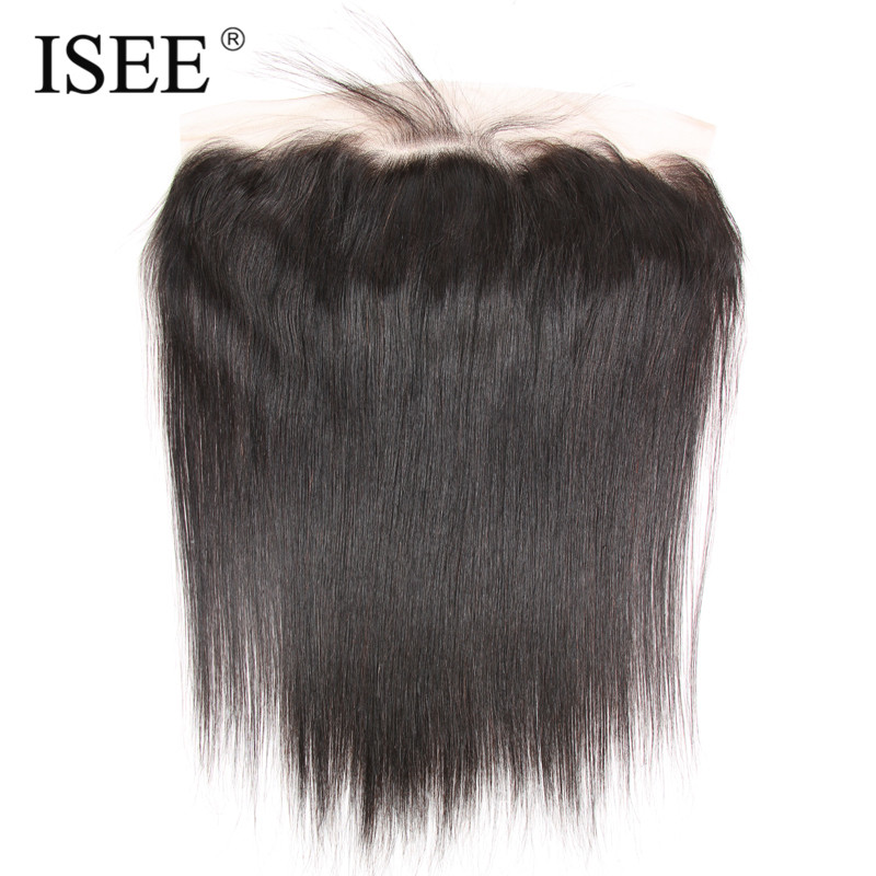 ISEE Ear To Ear 13×4 Lace Frontal With Baby Hair Straight Remy Human Hair Hand Tied