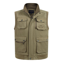 High Quality Multi Pocket Vest For Men Spring Autumn Male Casual Photographer Work Cotton Sleeveless Jacket With Many Pockets