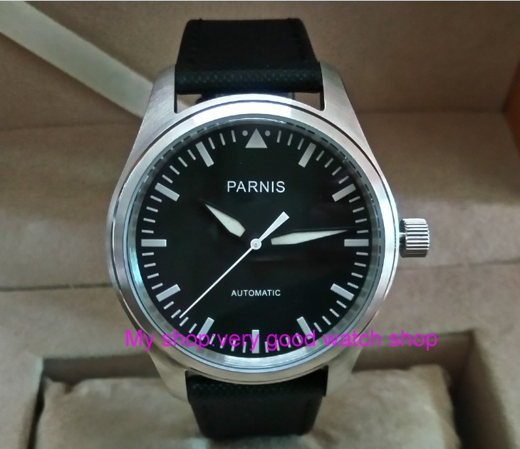 42mm PARNIS black dial ST25 Automatic Self-Wind movement men's watches Mechanical watches pa01-8 pa01 ic opamp power 1mhz to3 8