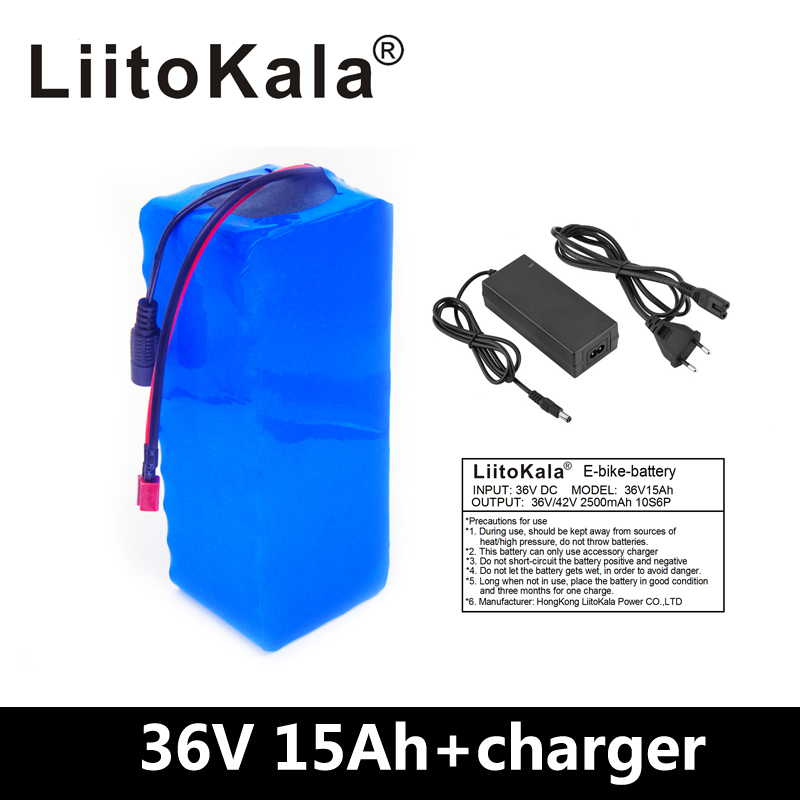 LiitoKala 36v 15ah 36V 500W battery  electric bike battery 36V 15AH Lithium battery 36v battery with 15A BMS +42V 2A chargerLiitoKala 36v 15ah 36V 500W battery  electric bike battery 36V 15AH Lithium battery 36v battery with 15A BMS +42V 2A charger