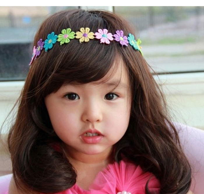 Lovely Casual Fashion Beautiful Infant Girl Flower Lace Hair Band Soft Headband Styles Good Gifts Cute Hot Free Shipping W#51