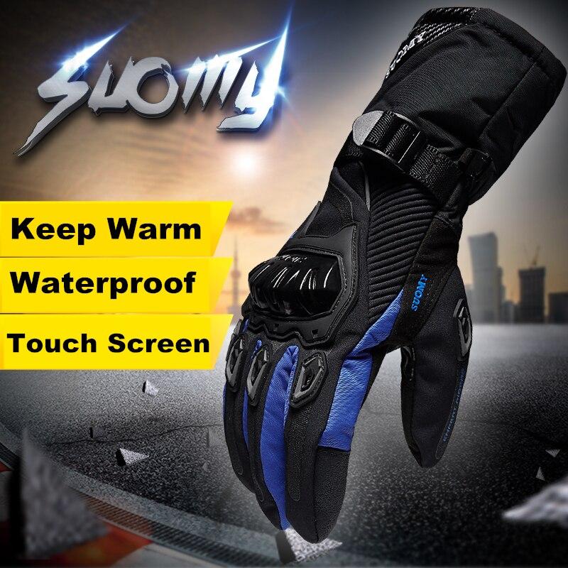 Suomy Freies verschiffen Winter warm motorradhandschuhe 100% Wasserdicht winddicht Guantes Moto Luvas Touchscreen Motosiklet Eldiveni