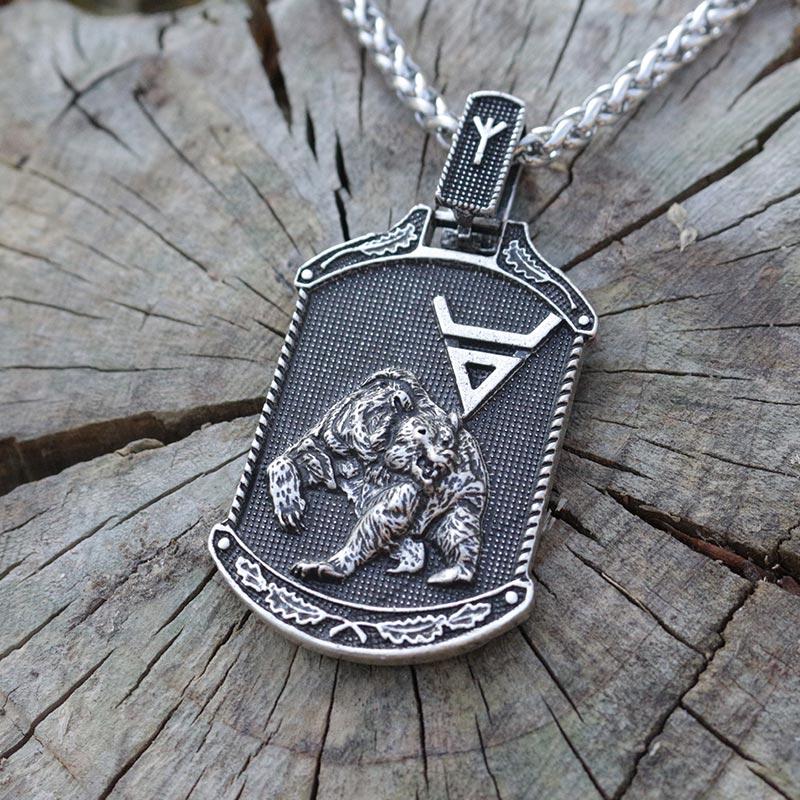 lanseis 1pcs viking Veles symbol.Weles.Slavic pendant norse slavic pendant men necklace wealth talisman jew