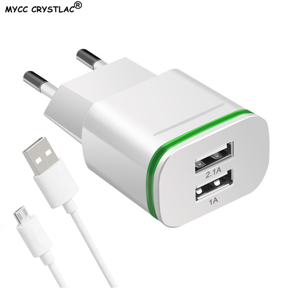5V 2.1A USB Charger EU Plug Fast Charging For Huawei P7 P8 P