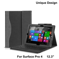 Fashion Leather Tablet Cover For Microsoft Surface Pro 4 12 3 Stand Function Case For Surface