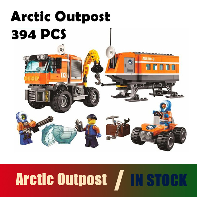 BELA 10440 394 pcs City Arctic Outpost Policemen Model building kits compatible with lego city 3D block Educational toys hobbies