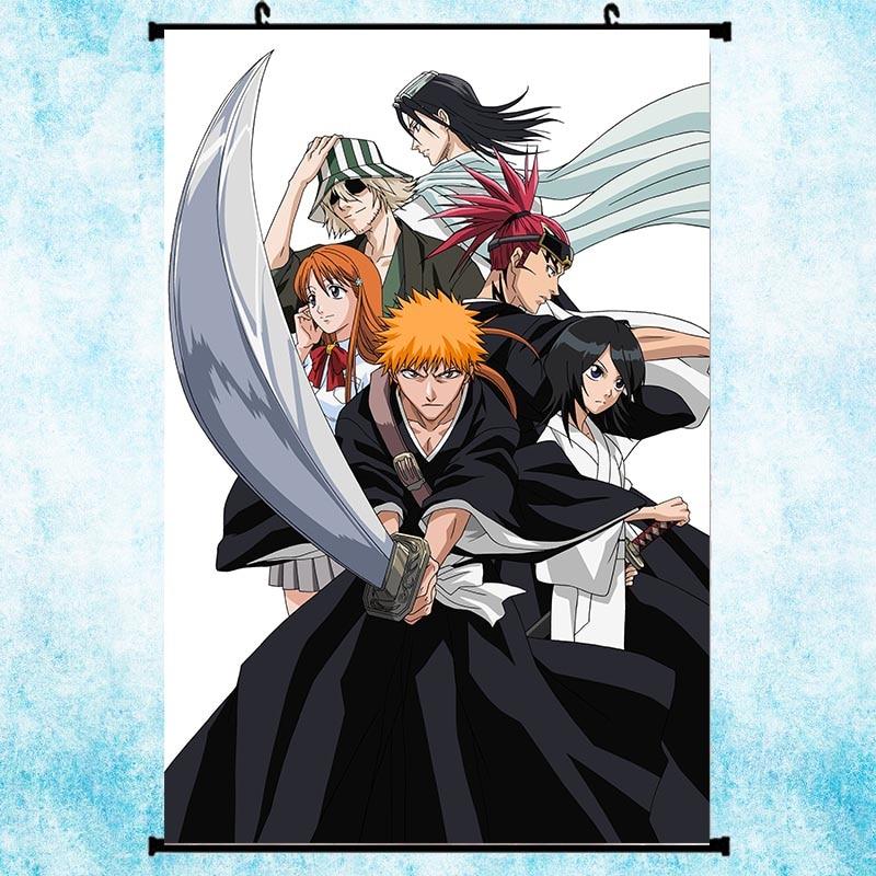 Bleach Kurosaki Ichigo Anime Wall Art Home Decoration Scroll Poster