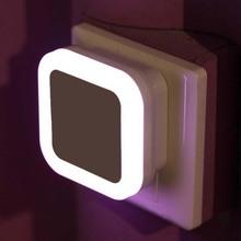 Wall Bedside Night Lamp Light Sensor Control Induction Energy Saving Sleeping Night Light For Baby Room Corridors EU US UK Plug