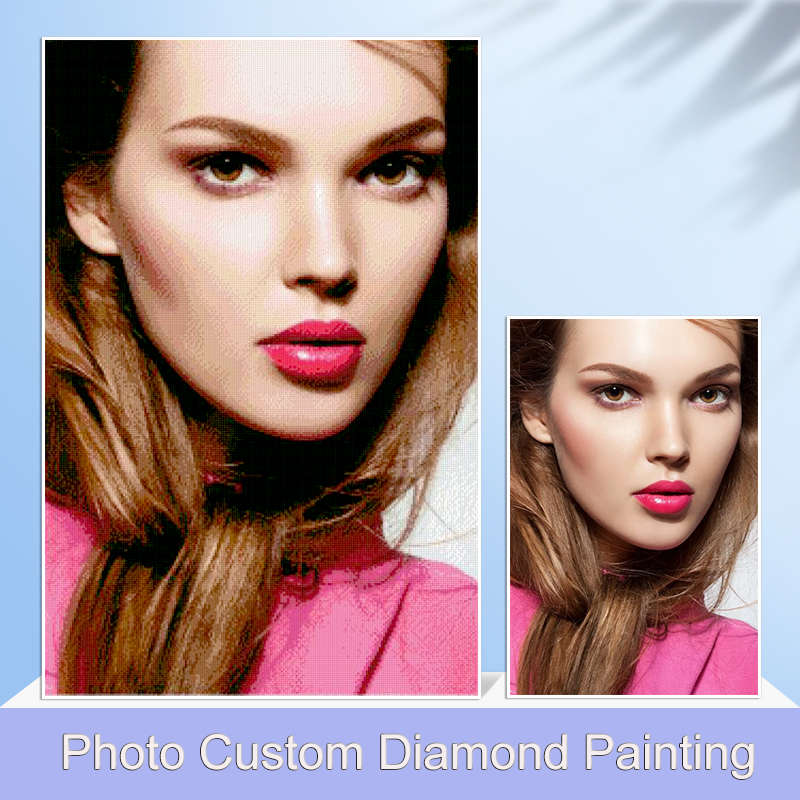 AZQSD 5D Diamond Painting Full Square Photo Custom