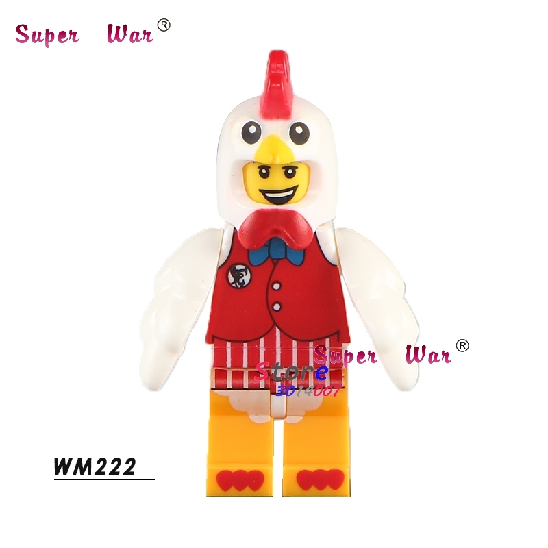 1PCS Model Building Blocks Action   Superheroes Chicken Guy Classic Learning Education Diy Toys For Children Gift
