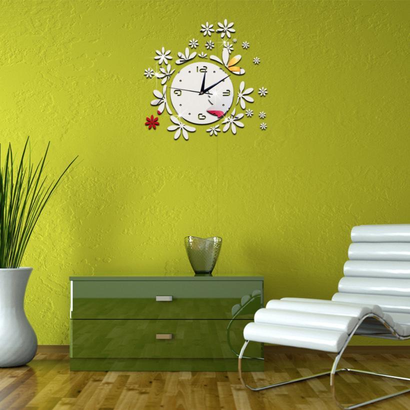 Mirror Wall Stic Modern DIY Wall Clock 3D Mirror Surface Sticker Mirror Wall Stickers Home Window Office Decor Wall Sticker t111