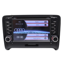 Radio Car DVD Player GPS 7Inch Touch Screen For AUD ITT Bluetotoh RDS FM AM Steering Wheel Control Multimeida System Video Audio