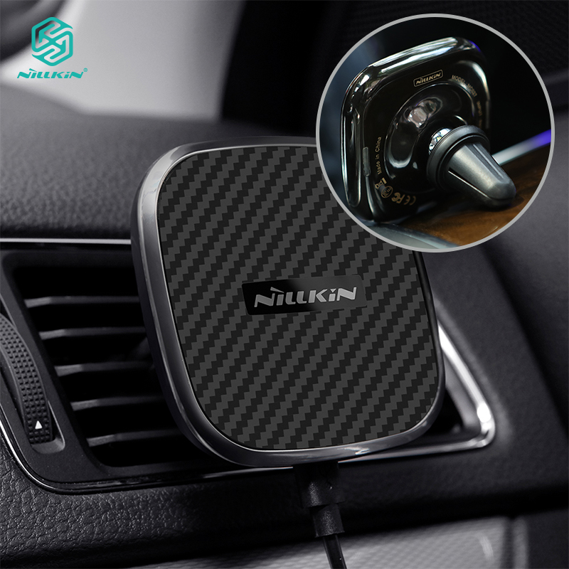 Nillkin 10W 2A Qi Car Magnetic Fast Wireless Charger Desk Holder Stand or Air Vent Quick Charging for iPhone X 8 Plus P30 Pro