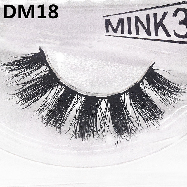 1pair 3d Mink Lashes In False Eyelashes Thick Hand Made Full Strip