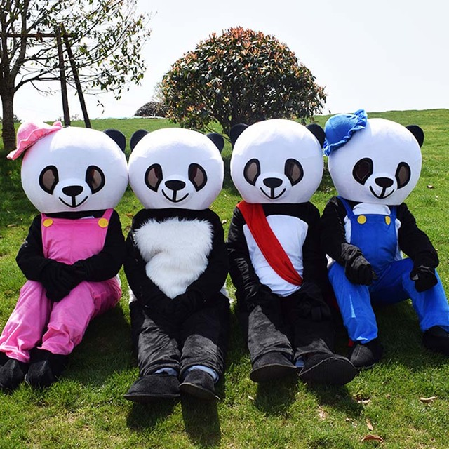 New sale Halloween Panda Mascot Costume Christmas Animation bear Cosplay birthday party costumes