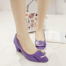 Pointed toe lavender heels womens wine red block heel large size shoes ladies casade wedding pumps cheap heels work shoes 190