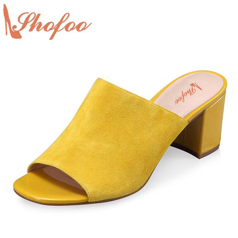 5cm Heel Slippers Yellow Sandals 2017 Summer Superstar Shoes Gladiator  Woman Slip On Flip Flops Women Mules Shoes Size 33 phyanic 2017 gladiator sandals gold silver shoes woman summer platform wedges glitters creepers casual women shoes phy3323
