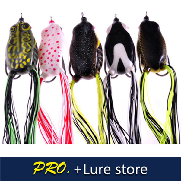 Free shipping 5pcs 6.5cm 10g soft hollow body frogs bass pro frogs soft fishing frog lur ...
