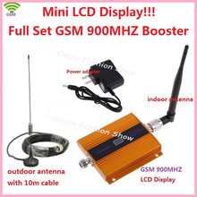 2015 1Set 2G 900MHz 900 mhz GSM Mobile Cell Phone signal Booster Repeater gain 60dbi LCD with antenna N male for house office