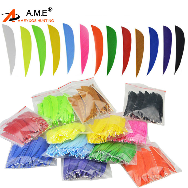 500pcs 3 inch Right Wing Shooting Arrow Natural Shield Natural Turkey Feather Archery Bow Arrow Vane