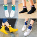 Children Girls Baby Socks Kids Cotton Infant Casual Cute Floor Socks With Kawaii Balls Candy Color