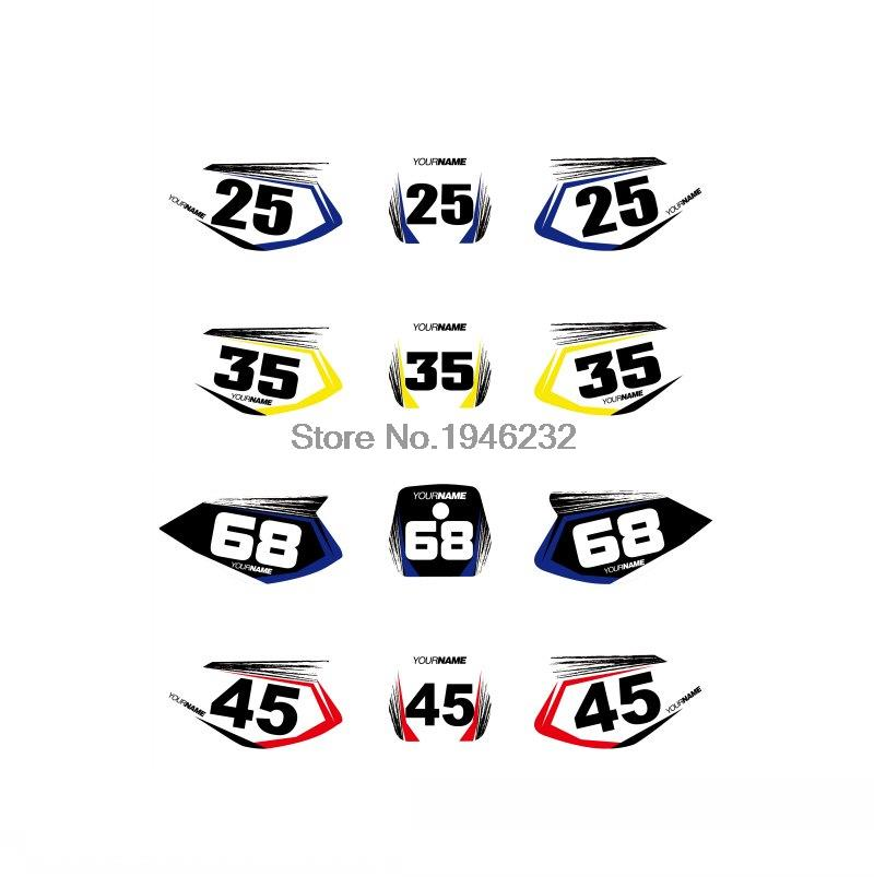 NICECNC Custom Background Number Plate Graphics Sticker