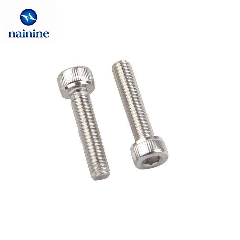50pcs-m16-m2-m25-m3-m4-din912-304-stainless-steel-hexagon-socket-head-cap-screws-hex-socket-screw-metric-bike-screw-hw003
