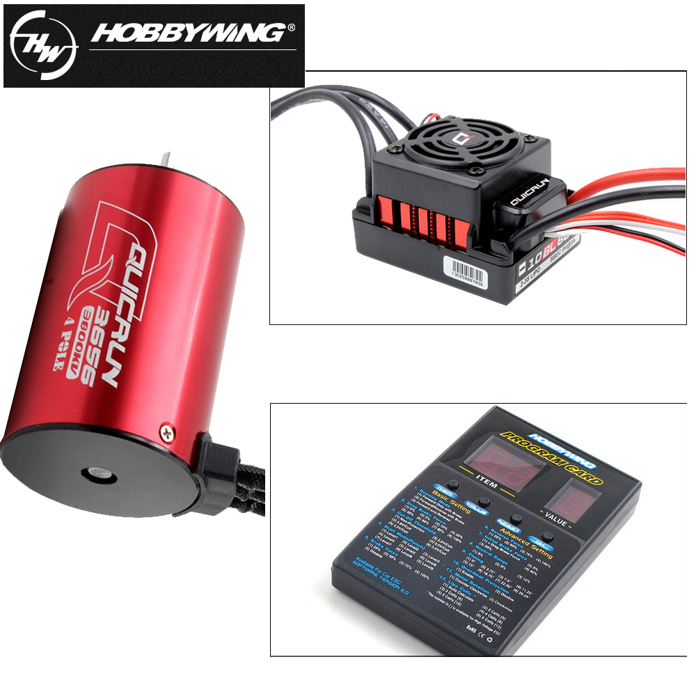 1set Original Hobbywing QuicRun WP 10BL60 Brushless Speed Controller 60A ESC 3656 3800kv 4 Pole motor