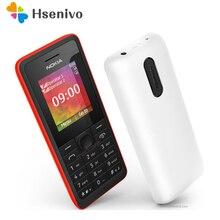 107 оригинальный Nokia 107 fm Радио двойной Мобильные SIM-карты хорошее качество открыл мобильный телефон Бесплатная доставка