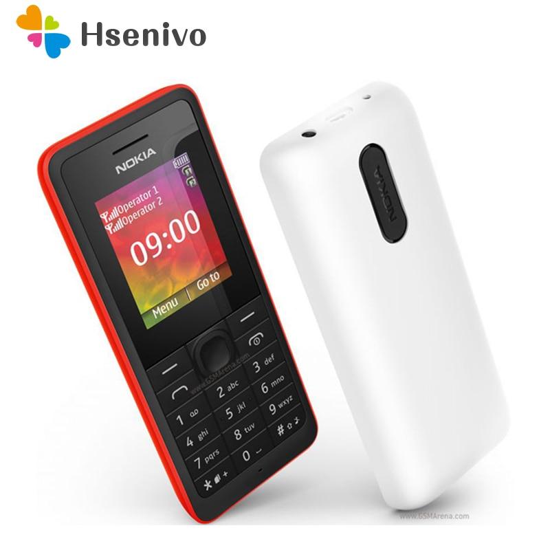 107 Original Nokia 107 FM Radio Dual SIM Cards Good Quality Unlocked Mo