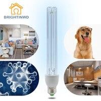 E27 15 Вт, 20 Вт, хит продаж бактерицидная лампа 220 V кварцевая лампа ультрафиолетовая лампа для дезинфекции бактерицидный свет для дома Кухня УФ...