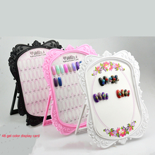 Get more info on the Double-sided 48 Tips Nail Gel Polish Color Card Nail display full color rack card boards practice 3 colors Show case books
