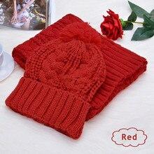 Women Hats 2017 Autumn And Winter Fashion Brand Hats Scarf Knitting Two Piece Women Gorros Casual Cap Scarf Chapeu Feminino Bone