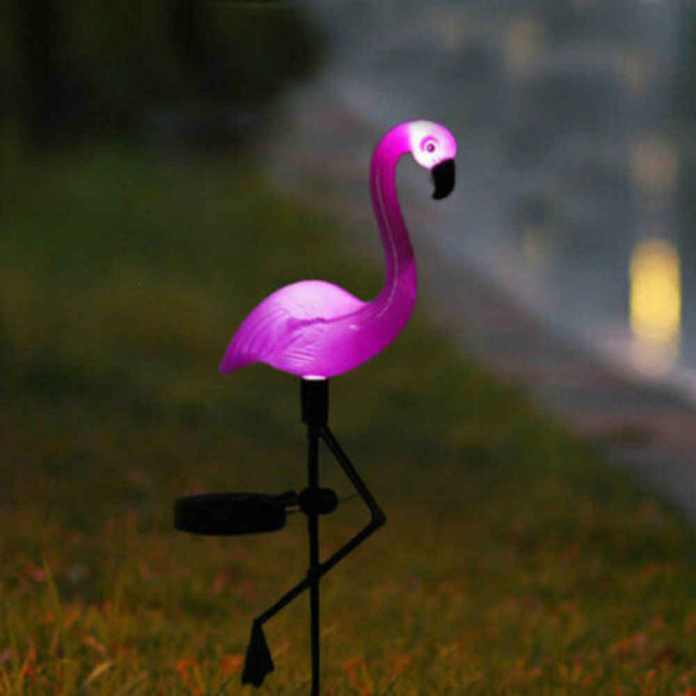 Solar Power Roze Flamingo Gazon Licht Decoratie Tuin Stake Landschap Lamp Outdoor Night Lights Party Deco Dier Lichten