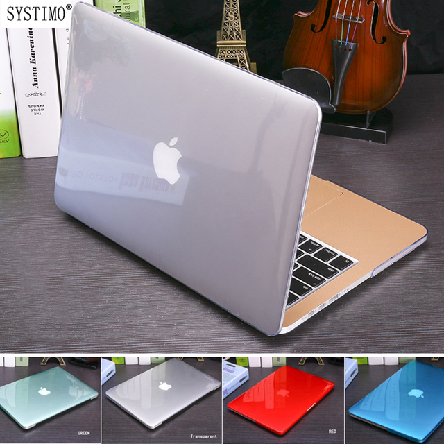 SYSTIMO 2018 Crystal Matte case For Apple Mac book Air Pro Retina 11 12 13 15 laptop bag for Macbook Air 13 Laptop Case A1932