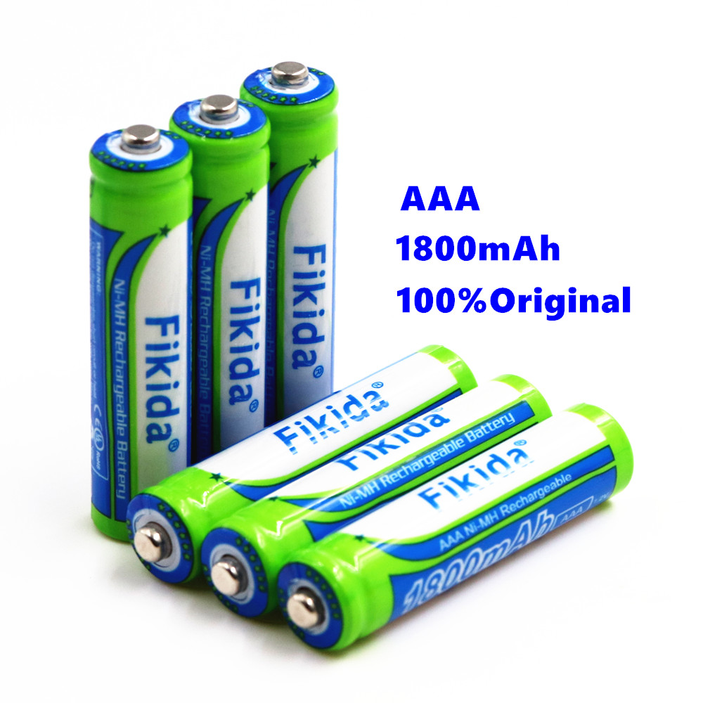 Fikida High Capacity NiMH AAA 3A Rechargeable Battery 1.2V 1800mAh Razor Remote Control Aircraft Electric Toy Battery ...