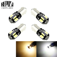 4X  BA9S Car LED 5730 Canbus lamps Error Free T4W H6W Auto LED bulbs interior Lights Car Light Source parking White Warm White 4pcs car bulb canbus error free ba9s t4w h6w led white 4014 24smd 4 8w led automotive light lamp 12v parking 57 233 w6w t11