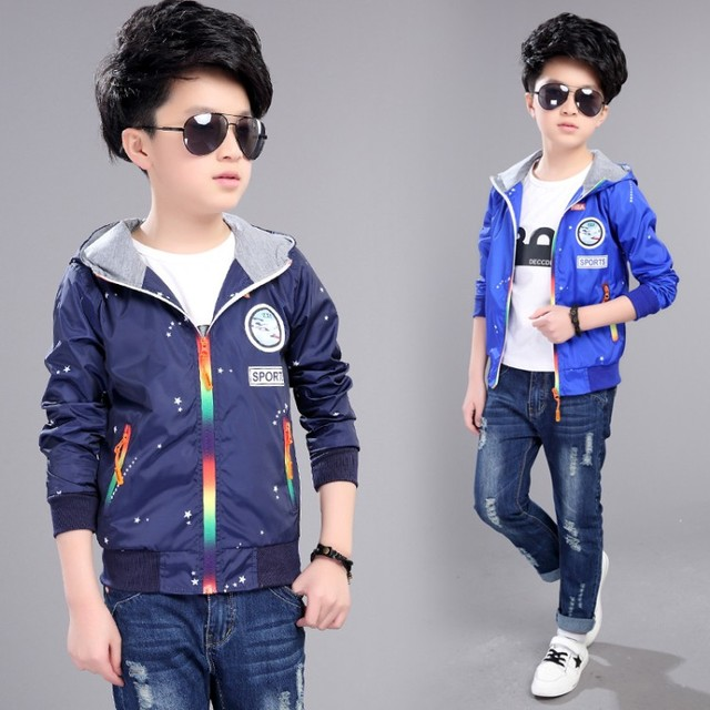 Baby Boys Coat Spring 2017 Windbreaker Thin Jacket Children Outwear Toddler Coats Boy Clothes Hooded