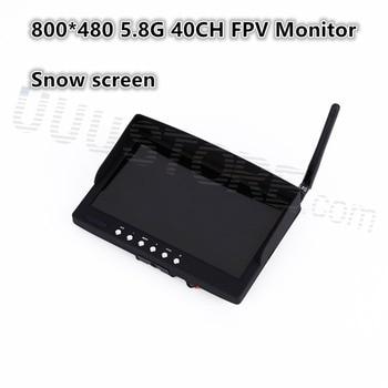 2016 new,7 inch 800 x 480 500CD LCD screen 5.8G 40CH Monitor Receiver FPV Wireless Monitor for 5.8G TX QAV250 Quadcopter DJI