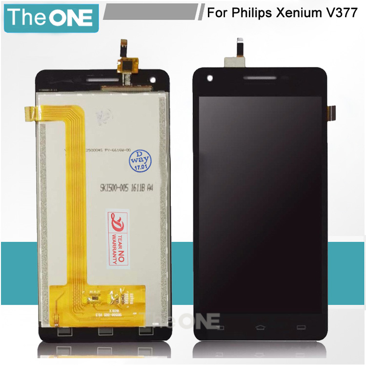 Black For Philips Xenium V377 LCD Display + Touch Screen Digitizer Glass For Philips V377 Assembly Free Shipping