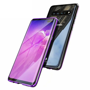 Image 2 - Magnetic Metal 360 Glass Case for Samsung S10 5G S9 S8 Plus Note 9 8 A7 A9 2018 A50 A60 A70 A30 A80 2019 Full Protective Cover
