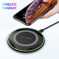10W Qi Fast Wireless Charger For Samsung S9 S8 Note 8 9 Wireless Charging pad For iPhone X Xr Xs Max Xiaomi Huawei Charger Pad
