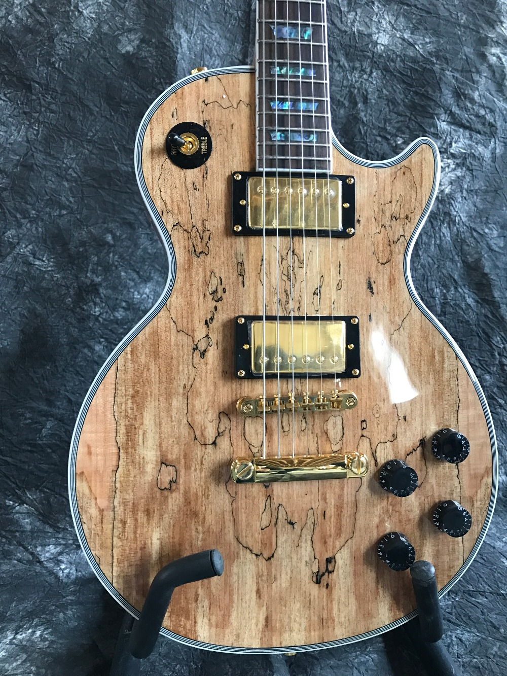 new brand starshine 1959 custom sr llp 062 mahogany electric guitar burl maple top good sound. Black Bedroom Furniture Sets. Home Design Ideas