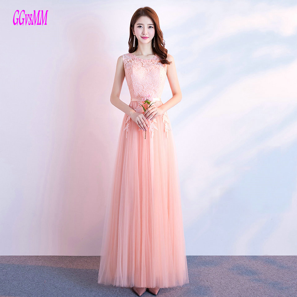 Fashion coral Prom Dress Long 2018 Cheap Prom Dresses Scoop Tulle ...