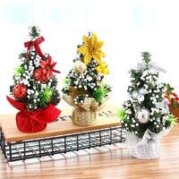 3 stks/set kerstversiering 20 cm kerstboom kantoor venster tafel decoratie gift mini festival party decoratie props