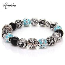 Thomas Style KM Bead Bracelet With OWL, MAORI , ETHNIC  , ZIGZAG, OM Beads, Rebel Heart Bracelet For Men TS KB537
