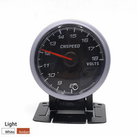 CNSPEED 60MM Black Face Car Auto Voltmeter 8 18 Volt Voltage Gauge With White Amber Lighting