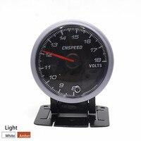 CNSPEED 60MM Black Face Car Auto Voltmeter 8-18 Volt Voltage Gauge With White& Amber Lighting Car meter/Auto Gauge